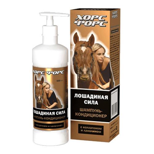 Лошадиная сила Шампунь с коллагеном и ланолином 500 мл (Лошадиная сила, Horseforce) лошадиная сила лошадиная сила шампунь кондиционер 500 мл