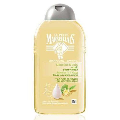 Купить Le Petit Marseillais Шампунь для всех типов волос Молочко и Цветок Липы 250 мл (Le Petit Marseillais, Для волос), Франция
