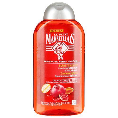 Шампунь для окрашенных волос Гранат и масло арганы 250 мл (Le Petit Marseillais, Для волос) шампунь своими