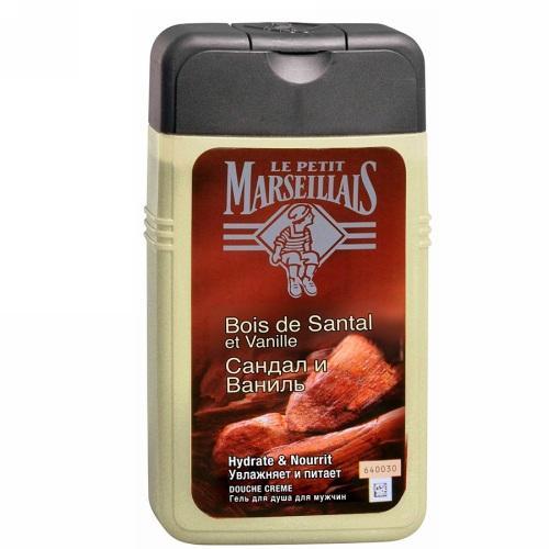Гель для душа для мужчин Сандал и Ваниль 250 мл (Le Petit Marseillais, Для тела) le petit marseillais питательный крем для рук карите сладкий миндаль и масло арганового дерева 75мл