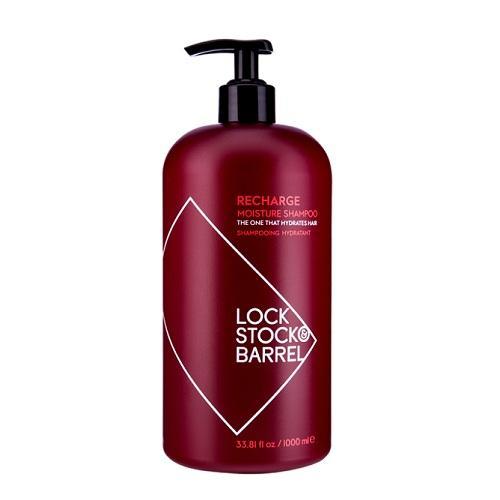 Увлажняющий шампунь для жестких волос 1000 мл (Lock StockBarrel, Recharge) fever sienna wig pastel pink парик с длинными волосами