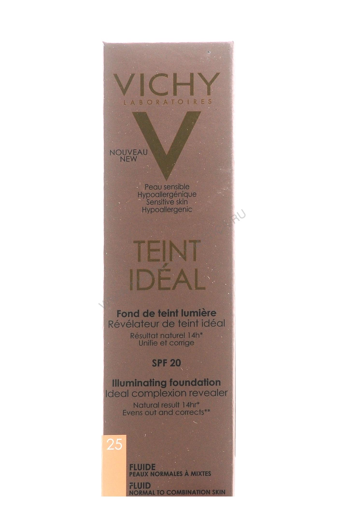Vichy тональный крем vichy тональный флюид тан идеаль 25