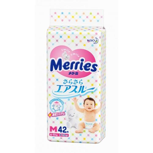 Merries Подгузники  медиум 6-11кг, 22 шт (Подгузники Меррис)