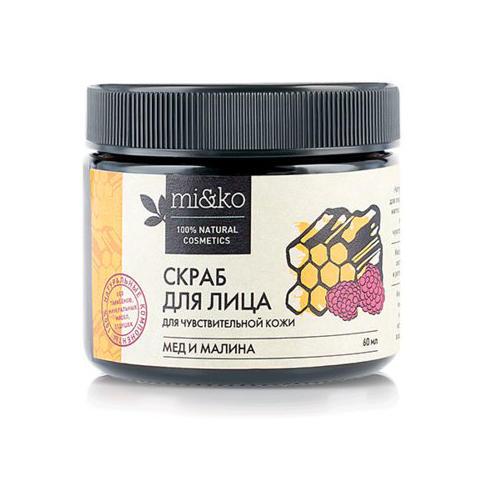 Купить Mi&Ko Скраб для лица Мед и малина для чувствительной кожи, 60 мл (Mi&Ko, Для лица), Россия