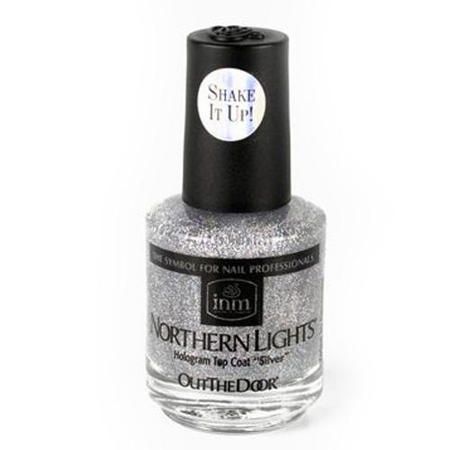 INM Northen Lights  Silver Голографическая сушка-закрепитель лака Серебро, 15 мл (Northen)Маникюр<br>Сушка-закрепитель моментально высыхает, закрепляя ранее нанесенный лак, при этом придает поверхности мерцание и блеск, сияя под любым углом, не желтеет, можно использовать для любого лака, сохраняет маникюр в идеальном состоянии надолго. Цвет - серебро.<br><br>Линейка: Northen<br>Пол: Женский