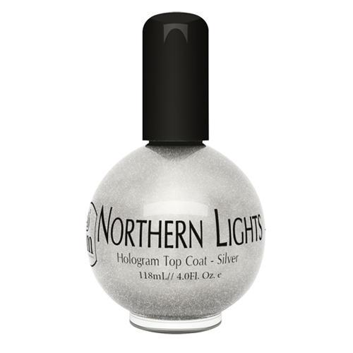 INM Northen Lights  Silver Голографическая сушка-закрепитель лака Серебро, 75 мл (Northen)