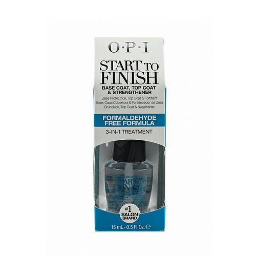 окрытие универсальное 3 в 1 Start to finish MultiPurpose Nail Treatment 15 мл (O.P.I, Уход за ногтями) грунтовка для натуральных ногтей chipscip 15 мл o p i уход за ногтями