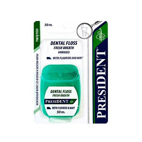 Нить межзубная со фтором и вкусом мяты 50 м (Зубные нити) от Pharmacosmetica