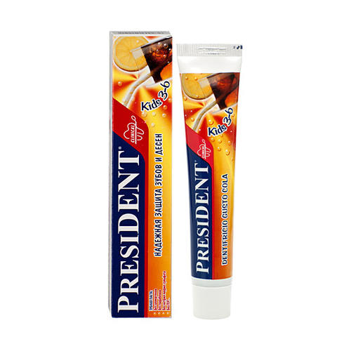 President Кидс паста зубная со вкусом колы 3-6 лет 50 мл (President, Для детей)