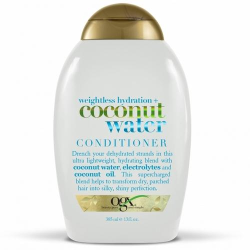OGX Кондиционер с кокосовой водой невесомое увлажнение 385 мл (OGX, Для волос) кондиционер для окрашенных волос ogx с маслом орхидеи и виноградных косточек 385 мл