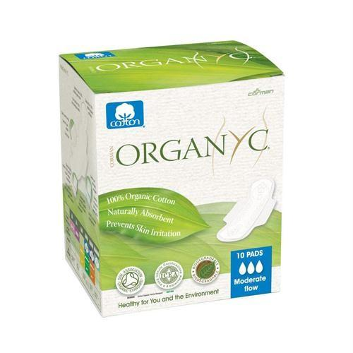 Organyc Прокладки с крылышками Супер, для рожениц, 10шт (female hygiene)