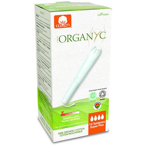 Тампоны Супер плюс, с аппликатором, 14шт (female hygiene) (Organyc)