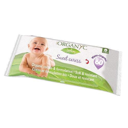 Organyc Детские влажные салфетки 60шт (Organyc, Kids hygiene)
