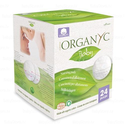 Впитывающие вкладыши для груди, 24 шт (Organyc, female hygiene) недорого