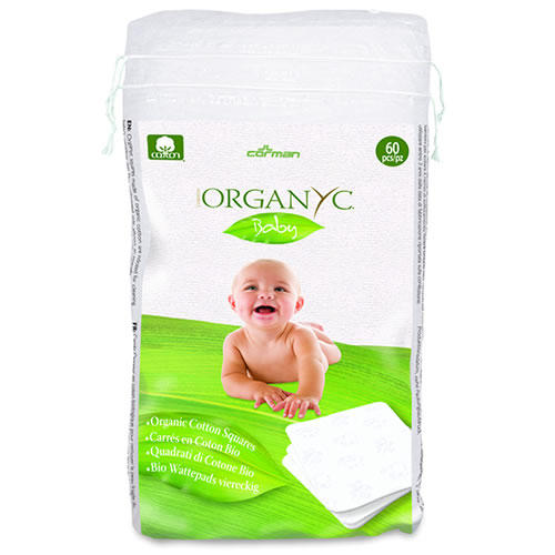 Детские ватные подушечки из органического хлопка, 60 шт (Organyc, Kids hygiene) organyc ватные палочки 200 шт