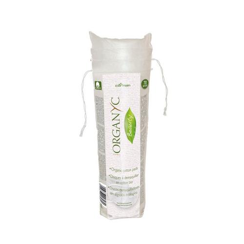 Ватные диски для снятия макияжа из органического хлопка, 70 шт (Organyc, female hygiene)