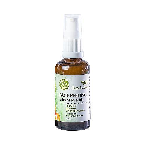 Пилинг для лица, для жирной и проблемной кожи 50 мл (OZ OrganicZone, Скрабы и пилинги для лица) химические пилинги для лица профессиональные отзывы
