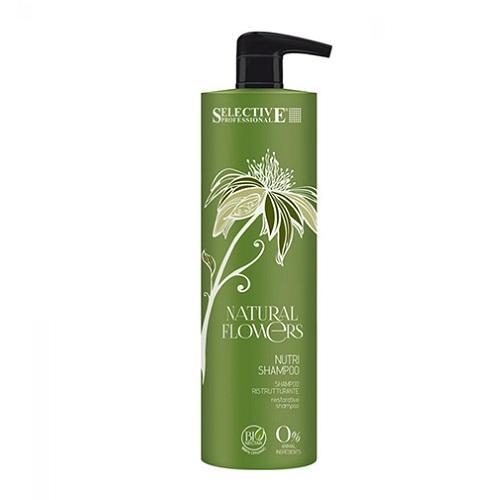 Питательный шампунь для восстановления волос Nutri Shampoo, 1000 мл (Selective, Eco Line)