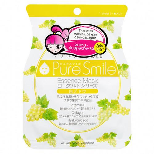 Маска для лица на йогуртовой основе c виноградом 1 шт (Sun Smile, Yougurt) sun smile маска для лица choco labo на основе какао с растительными маслами и экстрактами банана молока клубники и мяты 20 мл 5 мл 4