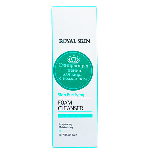 Фото - Royal Skin Очищающая пенка для умывания с коллагеном, 150 мл (Royal Skin, Для лица) shokubutsu пенка для лица для контроля за жирным блеском яблоко 100 г