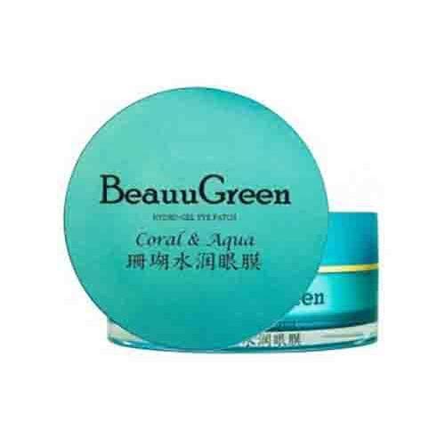 BeauuGreen Гидрогелевые патчи для кожи вокруг глаз с экстрактом коралла и морской водой 60 шт (BeauuGreen, Для лица)