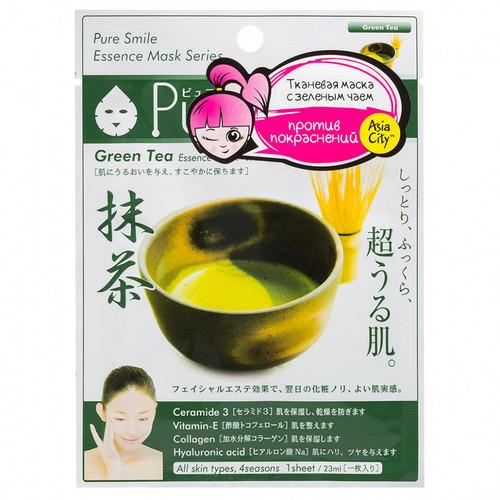 Sun Smile Маска для лица успокаивающая с экстрактом зеленого чая 1 шт (Sun Smile, Essence) sun smile essence маска для лица успокаивающая с экстрактом зеленого чая 1 шт