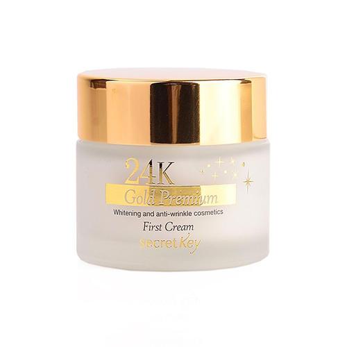 цена на Крем для лица питательный 24K Gold Premium First Cream, 50 г (Secret key, Cream Eye Cream)