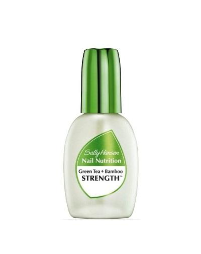 Средство для укрепления слабых хрупких ногтей 2 в 1 база и верхнее покрытие nail nutrition green te (Sally Hansen, Nailcare) sally hansen nail nutrition strength