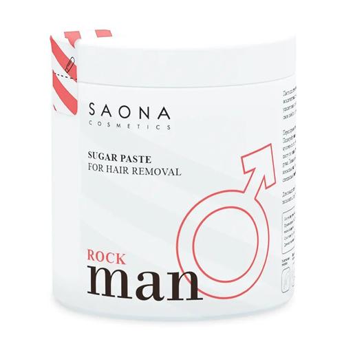 Паста для мужского шугаринга Rock Плотная 1000 гр (Saona Cosmetics, Man Line)