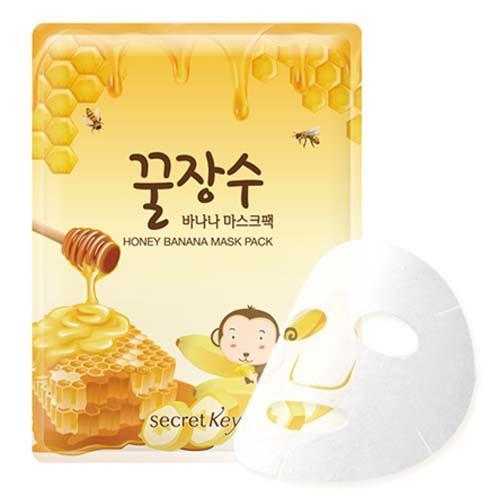 Маска для лица с экстрактом банана и меда, 25 гр (Secret key, Mask Pack) маска для лица яйцо мед