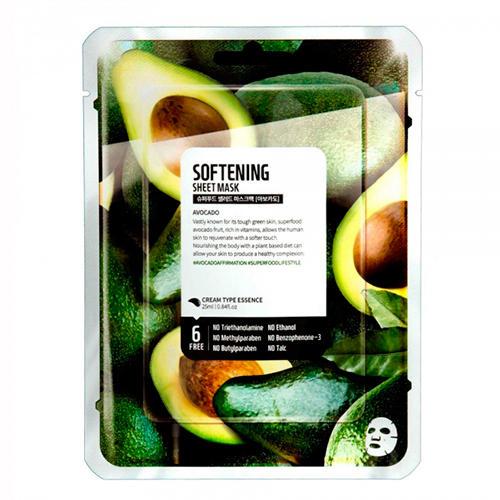 Купить Superfood Salad for Skin Тканевая маска Авокадо - Смягчение Facial Sheet Mask Avocado Softening 25 мл (Superfood Salad for Skin, Тканевые маски)