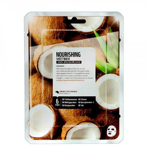 Купить Superfood Salad for Skin Тканевая маска Кокос - Питание Facial Sheet Mask Coconut Nourishing 25 мл (Superfood Salad for Skin, Тканевые маски)
