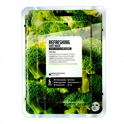 Superfood Salad for Skin Тканевая маска Брокколи - Свежесть Facial Sheet Mask Broccoli Refreshing 25 мл (Superfood Skin, Тканевые маски)