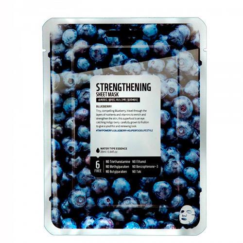 Купить Superfood Salad for Skin Тканевая маска Голубика - Сила Facial Sheet Mask Blueberry Strengthening (Superfood Salad for Skin, Тканевые маски)