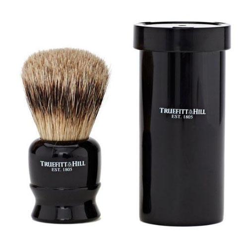 Truefitt & Hill Кисть для бритья в футляре , ворс серебристого барсука, эбонит (Truefitt & Hill, Аксессуары)