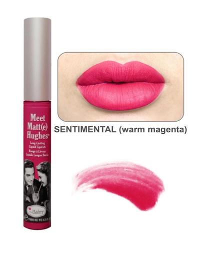 Стойкий матирующий блеск для губ Meet Matt(e) Hughes Sentimental (Thebalm, Губы) стойкий матирующий блеск для губ meet matt e hughes charming thebalm губы