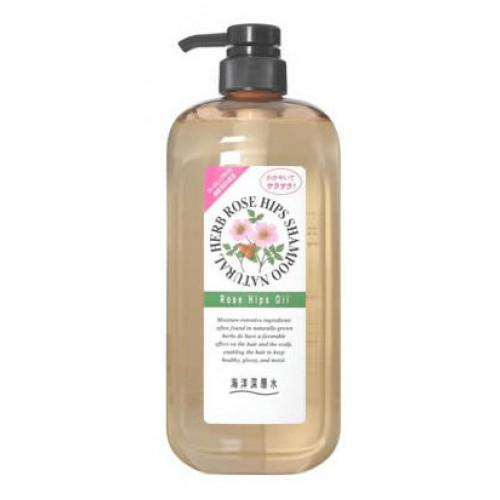 Купить Junlove Шампунь на основе натуральных растительных компонентов (с маслом шиповника, для нормальных волос) 1000 мл (Junlove, Для волос), Япония