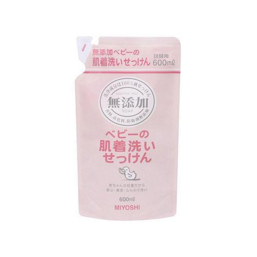 Жидкое средство для стирки основе натуральных компонентов заапасной блок 600 мл (Miyoshi, Для стирки)