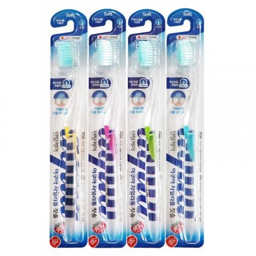 Dental Care Зубная щетка cо сверхтонкой двойной щетиной (средней жесткости и мягкой) и прозрачной прямой ручкой Ксилит (Dental Care, Зубные щетки)