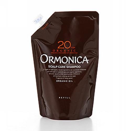 Ormonica Органический шампунь для ухода за волосами и кожей головы запасной блок 400 мл (Ormonica, Для волос)