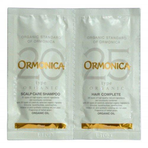 Ormonica Мини-набор: органический шампунь и бальзам для ухода за волосами и кожей головы 2*10 мл (Ormonica, Для волос) фото