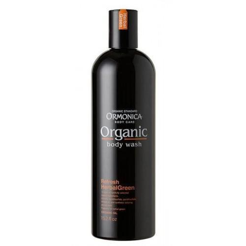 Ormonica Органическое жидкое мыло для тела освежающее аромат зеленых трав 450 мл (Ormonica, Для тела)