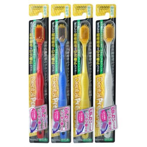 Купить Create Зубная щетка с широкой чистящей головкой и супертонкими щетинками средней жесткости (Create, Зубные щетки), Япония