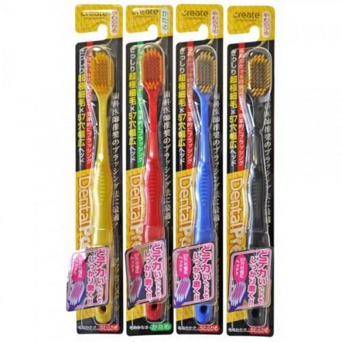Купить Create Зубная щетка с широкой чистящей головкой и супертонкими щетинками жесткая (Create, Зубные щетки), Япония