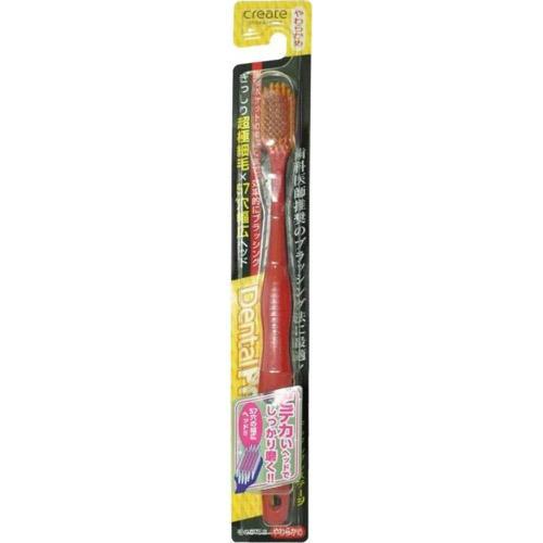 Купить Create Зубная щетка с широкой чистящей головкой и супертонкими щетинками мягкая (Create, Зубные щетки), Япония