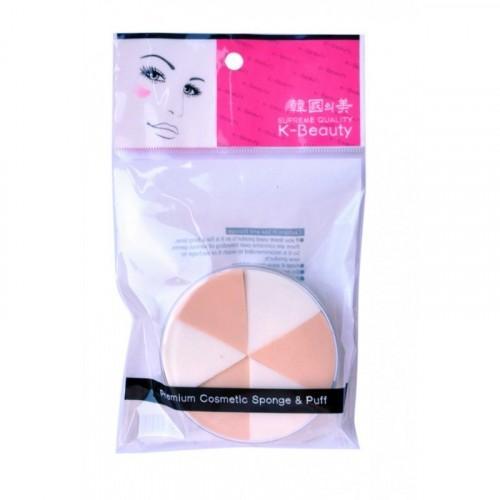 Купить Eq Maxon Спонж косметический в кейсе двухцветный 6 сегментов (Eq Maxon, Аксессуары), Южная Корея
