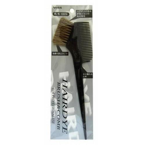 цена на VeSS Гребень c щеткой для профессионального окрашивания волос (большой) (VeSS, Расчески)