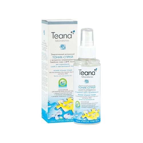 Энергетический витаминный тоник-спрей для сухой, чувствительной и нормальной кожи 150 мл (Пятое чувство) (Teana)