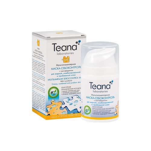 Teana Мультиламеллярная маска- себоконтроль с лактоферрином 50 мл (Пятое чувство)