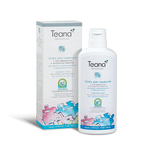Мицеллярная пенка для умывания с лактоферрином для жирной и комбинированной кожи 150 мл (Пятое чувство) (Teana)